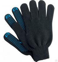 Перчатки полушерстяные с ПВХ покрытием точка