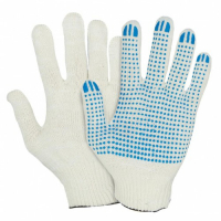 Перчатки трикотаж. с ПВХ 7,5 класс 3 нити (Э)