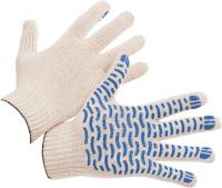 Перчатки трикотажные х/б с ПВХ покрытием волна 10 класс