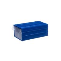 Пластиковый короб Стелла-техник С-2-синий-прозрачный 140х250х100мм