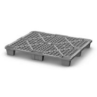 Паллет полимерный 02.102.91 Q (1200*800*140) перфорированный на ножках (серый)