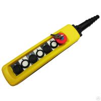 Пульт 6 кнопочный, 1 ступенчатые кнопки + СТОП БУТОН + ключ (XАС-A6713Y), защита IP65