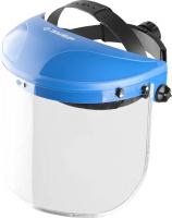 Щиток защитный лицевой ЗУБР МАСТЕР ударопрочный экран 1мм с металической акантовкой устойчивый к царапинам и истиранию, с храповиком