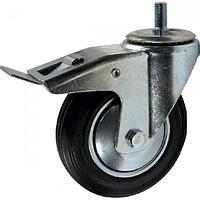 SCtb 42 - Промышленное колесо 100 мм (болт, поворотн., тормоз, черн. рез., роликоподш.)