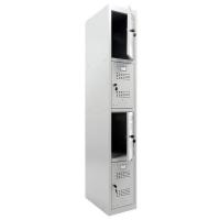 Шкаф для раздевалок усиленный ML-14-30 базовый модуль