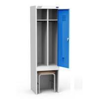 Шкаф металлический для одежды ШРЭК 21-530 ВСК разборный