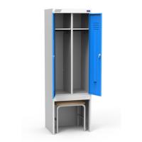 Шкаф металлический для одежды ШРЭК 22-530 ВСК двухсекционный разборный
