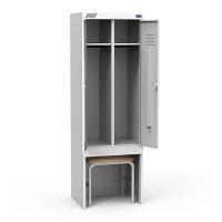 Шкаф металлический для раздевалок ШРК 22-800 ВСК