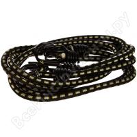 Шнур STAYER PROFESSIONAL резиновый крепежный, двойной стальной крюк, усилен. резина, 100 см, d 8 мм, 2 шт