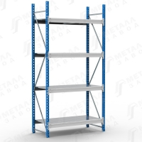 Стеллаж металлический SGR 1264-2,5 500 кг 4 полки (2500 Х 1200 Х 600)