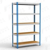 Стеллаж МКФ 15505-2,5 300 кг 5 полок (2500 Х 1525 Х 508)