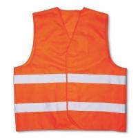 Светоотражающий сигнальный жилет оранжевый