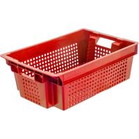 Ящик для фруктов 102 красный 600х400х200