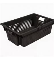 Ящик для фруктов 102 перфорированный 600х400х200 черный