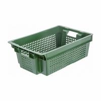 Ящик для фруктов 102 перфорированный 600х400х200 зеленый
