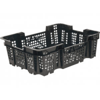 Ящик для грибов 101-1 перфорированный 400х300х126 черный