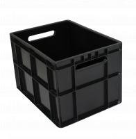 Ящик молочный 303 черный сплошной 400х300х270