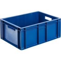 Ящик мясной 204 сплошной 600х400х250 синий