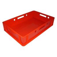 Ящик мясной 205 красный 600x400x120