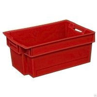 Ящик мясной 206 красный 600x400x200