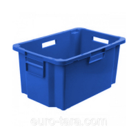 Ящик мясной 218 синий 600x400x300