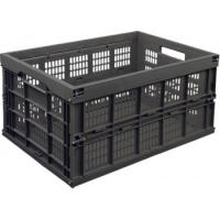 Ящик п/э складной 535х350х280 складной перфорированный арт.413, чёрный
