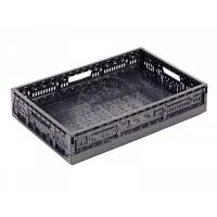 Ящик п/э складной 600*400*115 перфорированный темно-серый арт.F6411, серый