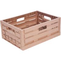Ящик пластиковый 400Х300Х160 WOOD LOOK арт.WL4316, коричневый