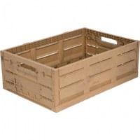 Ящик пластиковый 600Х400Х110 WOOD LOOK арт.WL6411, коричневый
