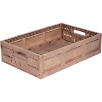 Ящик пластиковый 600Х400Х130 WOOD LOOK арт.WL6413, коричневый