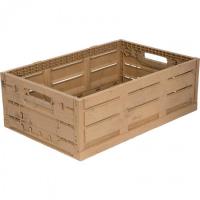 Ящик пластиковый 600Х400Х190 WOOD LOOK арт.WL6419, коричневый