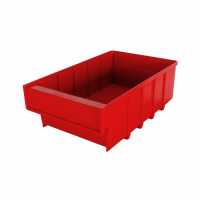 Ящик пластиковый для склада Б 400х185х100 красный