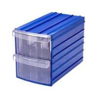 Ящик пластиковый модульный 110x90x160 мм /2 арт.PD Y 92, синий