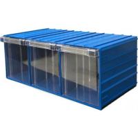 Ящик пластиковый модульный 204x370x160 мм /3 арт.PD 120-3, синий