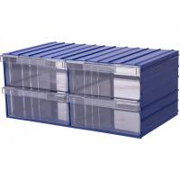 Ящик пластиковый модульный 204x370x160 мм /4 арт.PD 120-4, синий