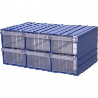 Ящик пластиковый модульный 204x370x160 мм /6 арт.PD 120-6, синий