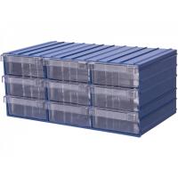 Ящик пластиковый модульный 204x370x160 мм /9 арт.PD 120-9, синий