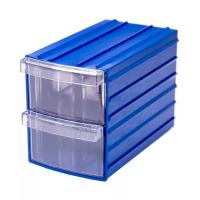 Ящик пластиковый модульный 90x110x160 мм /2 арт.PD Y 112, синий
