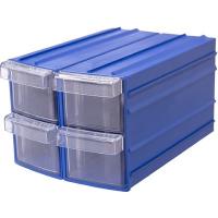 Ящик пластиковый модульный 90x110x160 мм /4 арт.PD Y 114, синий