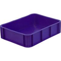 Ящик под пирожные 405 сплошной 430х330х110 синий без крышки