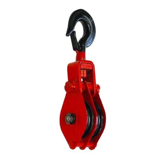 Блок двухрольный (для каната и веревки) с крюком TOR HQG(L) K2-1,0 т