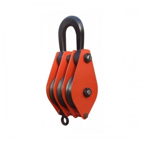 Блок трехрольный (для каната и веревки) TOR HQG(L) K3-10,0 т-0 (ушко)