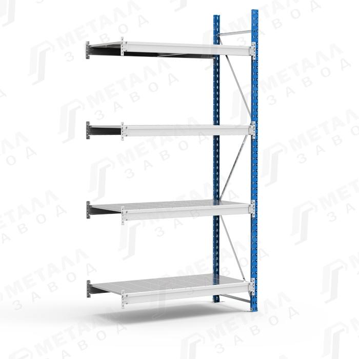 Дополнительная секция к стеллажу SGR 1264-2,5 DS 500 кг 4 полки (2500 Х 1200 Х 600)