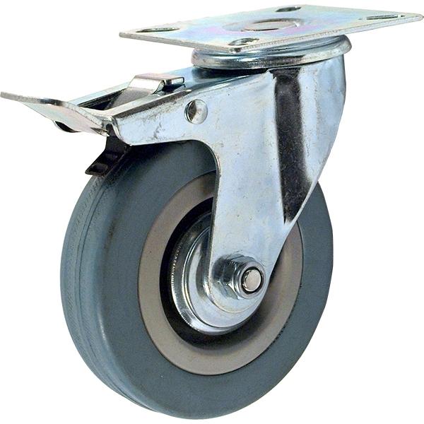 Колесо аппаратное поворотное с тормозом SCgb 93 (D 75)