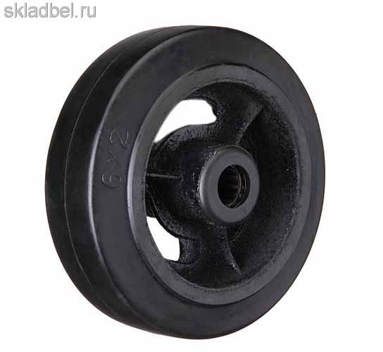 Колесо большегрузное на черной резине без опоры D 80