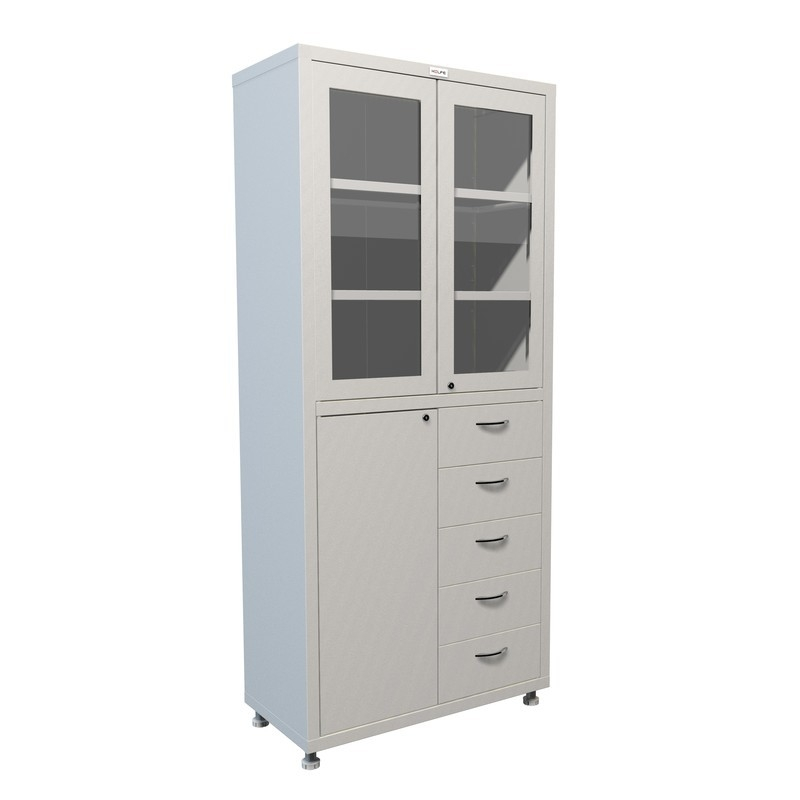 Медицинский шкаф двухстворчатый HILFE МД 2 1780 R-5
