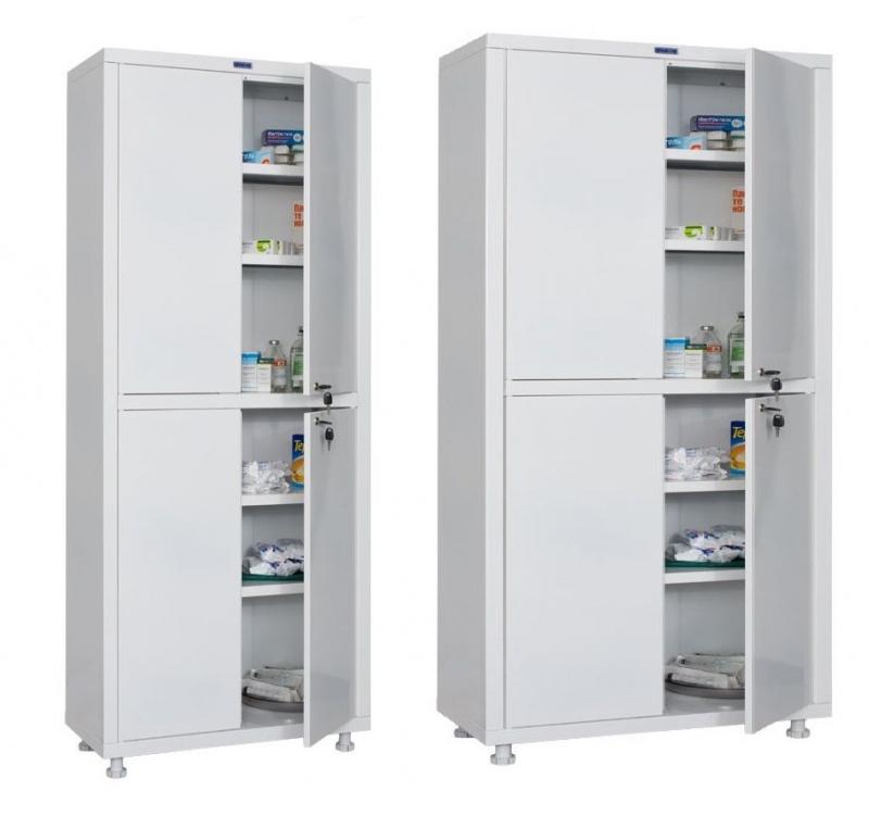 Медицинский шкаф двухстворчатый HILFE МД 2 1780/SS