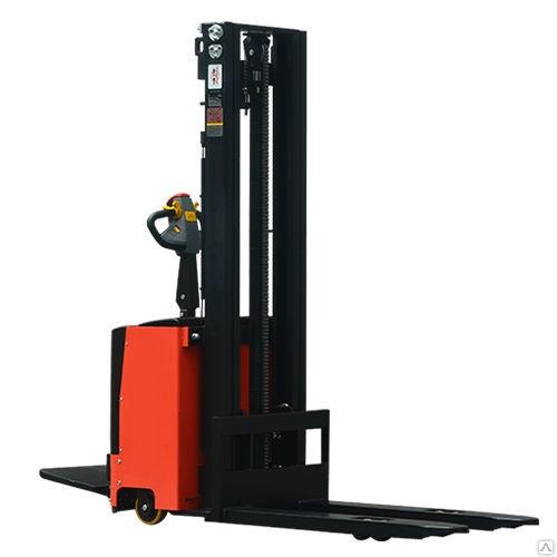 Штабелер самоходный электрический SDK1550, 1500 кг, высота подъема 5000 мм, с платформой