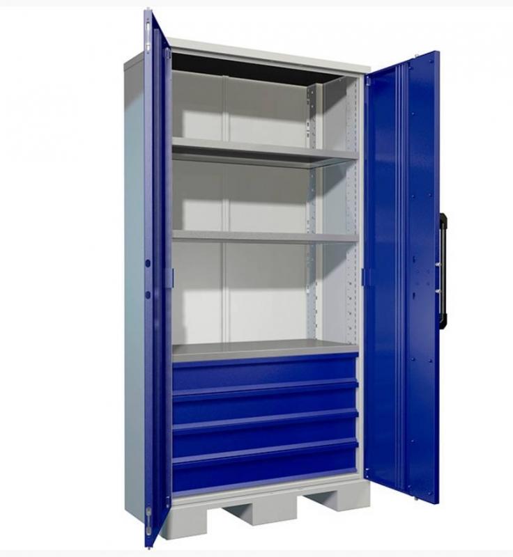 Шкаф инструментальный металлический Практик AMH ТС-003040