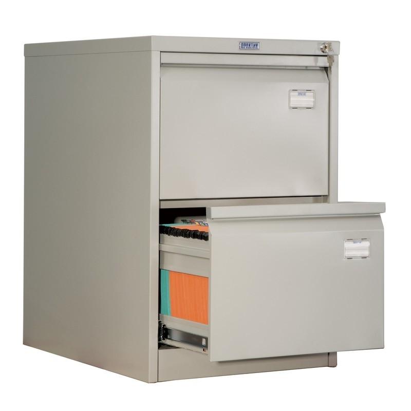 Шкаф картотечный металлический Практик AFC-02